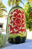 Gesneden watermeloen — Stockfoto