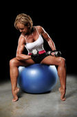 Mature Woman Working Out — Stock Photo