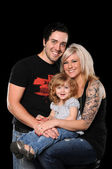 Young Couple With Daughter — Stock Photo