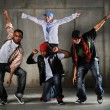 Foto Stock: Hip Hop Men Performing