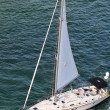 Stock Photo: Yatch Sailing ON View from Above