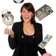 Businesswoman Juggling Responsibilities - Stock Photo