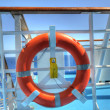Foto Stock: Life Ring on Boat