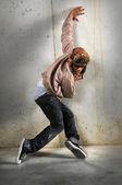 Hip hop mann tanzen — Stockfoto