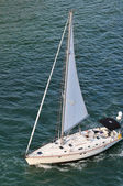 Yatch Sailing ON View from Above — Stock Photo