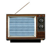 Vintage Television Without Signal — Stock Photo