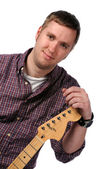 Musician With Electric Guitar — Foto de Stock