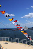 Nautical Flags at Port — Stock Photo
