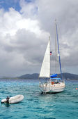 Yatch Moored in Saint Thomas Island — Stock Photo