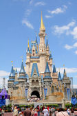 Castle at Disney World in ORlando — Stock Photo