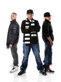 Tree Young Men Posing — Stock Photo