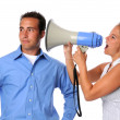 Woman Yelling at Man — Stock Photo