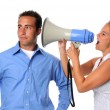 Woman Yelling at Man — Stock Photo #15390075
