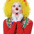 Clown Expressing Surprise — Stock Photo