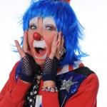 Clown Showing Surprise — Stock Photo