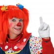 Clown Signaling Number One — Stock Photo #15393233