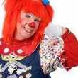 Clown Signaling Call Me — Stockfoto