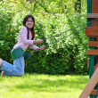 Young Girl on a Swing — Stock Photo #15393281