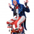 Clown Riding a Bicycle — Stock Photo