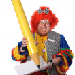 Clown Writting — Stock fotografie #15393357