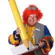 Stock Photo: Clown Writting