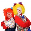 Two Clown Smiling — Stock Photo