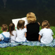 Mother Reading To Children — Stock Photo
