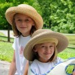 Sisters With Hats — Stock Photo #15393705