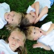 Children Playing on the Grass — Stock Photo