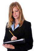 Businesswoman With Pencil — Stock Photo