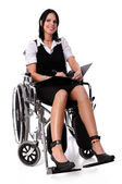 Woman on a Wheel Chair — Stock Photo