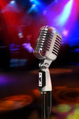 Vintage Microphone With Lights — Stock Photo