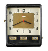 Grungy Old Clock — Stock Photo