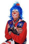 Clownen skrattar — Stockfoto