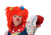 Clown Showing Disapproval — Stock Photo