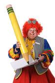Clown Writting — Stock Photo
