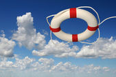 Life Preserver Over a Sky — Stock Photo