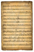 Vintage Music Sheet — Stock fotografie