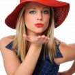 Woman Blowing a Kiss — Stock Photo #15816047