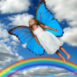 Little Fairy Flying - Stock Photo