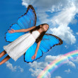 Flying Fairy - Stock Photo