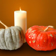 Pumpkins and Candle — Stock Photo #15816473