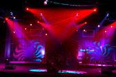 Lamporna på scenen — Stockfoto