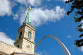 Old Cathedral and Arch — Foto Stock
