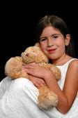 Mädchen und teddybär — Stockfoto