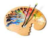 Artist's Palette and Brushes — Stock Photo
