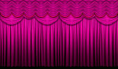 Red Violet Stage Curtain — Stock Photo