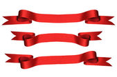 Red Ribbons with Clipping Paths) — Stock Photo