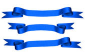 Blue Ribbons with Clipping Paths) — 图库照片