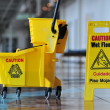 Caution Wet Floor - Stock Photo